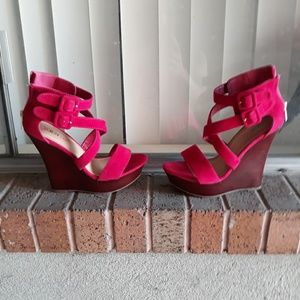 Velvet Wedges gently worn